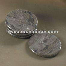 Set/4 Genuine Charcoal Marble Coasters