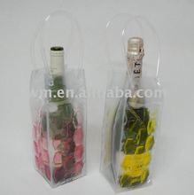 promotional hot liquid PVC wine cooler plastic bag