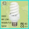 110-240v super bright favorable price 12W Full Spiral power saver