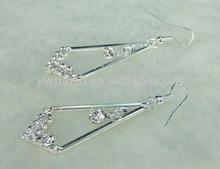 ERH132 fashion rhinestone silver diamond earrings wholesale jewelry accessory