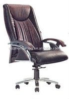 wooden/ leather swivel manager office chair BY-291
