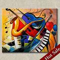فن الرسم التجريدي السريالي موضوع الموسيقى، عالية-- جودة اليد-- طلاء جدار الفن ديكور المنزل صور الجملة