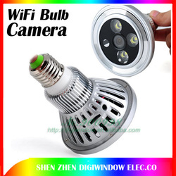 2 in 1 Bulb WIFI Camera HD 720P H.264 P2P IP CCTV Camera Use for iPad iPhone Android Lamp/Camera( WiFi-T7)