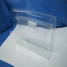 2012 New Designed Clear Cosmetic PVC Bag With Magic Tape