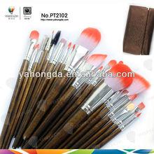 Decorative cool mints make up brush set,beauty tools sets,floral tools set