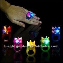 Led Flashing Crystal Crown Ring