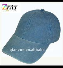 2012 high quality washed denim baseball caps adjustable plain hat and cap