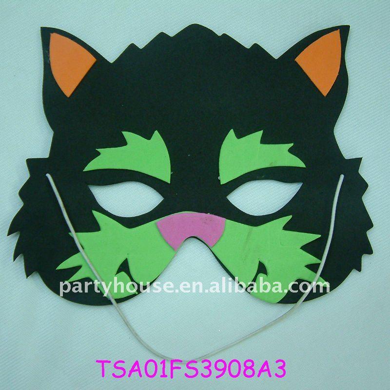 La última moda de Halloween máscara de EVA para niños máscaras de dibujos animados