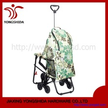 Climbing Stair Shopping Trolley Bag with Chair