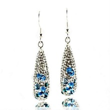 Factory Supply Teardrop Earrings Jewelry, Latest Fashion Stainless Steel glass crystal Earring