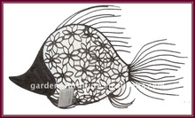 metal Fish craft designs wall decors wholesale