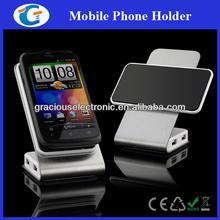Rotatable metal mobile phone holder with 4 ports hub
