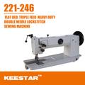 Keestar 221-246 semi braço longo heavy duty pé andando couro máquinasdecostura