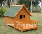 HOT! Wooden Dog Kennel with Bed,Waterproof