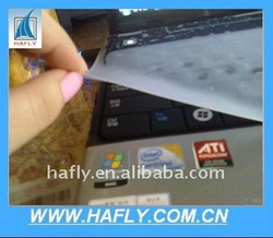 Clear silicon cover skin for laptop