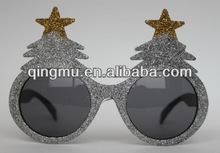 Christmas funny glitter powder fashion party supply sunglass,promotion glasses,eyeglasses