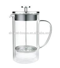 Double wall glass tea & coffee maker