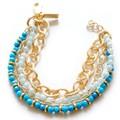 2014 nuovo design bracciale catena in oro con perle di resina