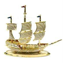 Sailing boat 24K very advanced metal art
