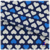 blue and white heart design knitted nylon spandex swimwear fabric