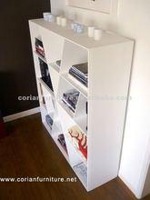 Corian made modern design home bookcase YY-021