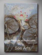 100% Handmade Flower Oil Painting