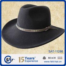 men's fashion 100% wool felt Western Cowboy hat