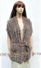 Cx-g-b-11aผู้หญิงขนกระต่ายถักเสื้อกั๊กรูปแบบเสื้อกันหนาวเสื้อสวมหัว