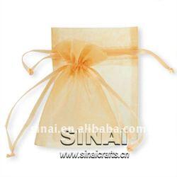 Beautiful Wedding Bag / Wedding Gift Ligh Yellow Organza Bag
