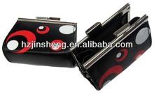 Fashion pvc black fashion ladies' coin purses