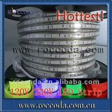 hot!!!!SMD 5050 220v green high voltage ip65 led 110V 5050 led strip holiday shop ip65