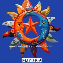 Talavera star and moon creative design 3d sun Wall Decor