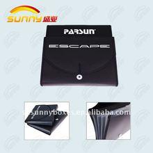 Black Expanding File Folder Leather