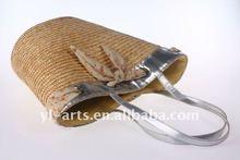100% handmade natural fashion straw bag