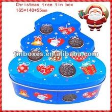 2012 new product Christmas tree tin box