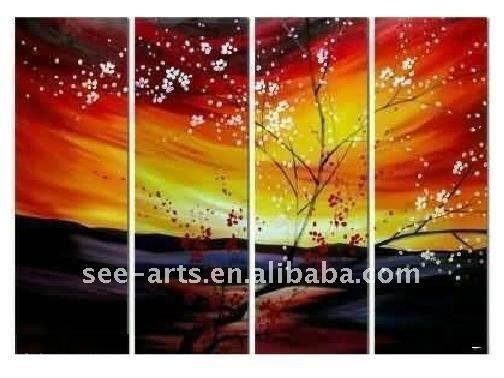 Flor de cerezo pinturas del árbol