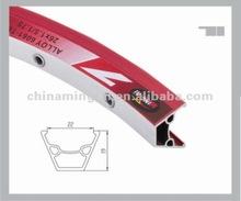 Disc brake red/black bike alloy double wall rims MTB rim MTSC22A