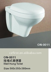 white color wall hung toilet