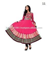 Party Wear Pink Georgette Anarkali Dress