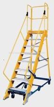 FRP Mobile Maintenance Platform Ladder