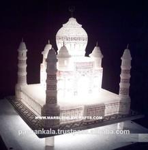 White Marble Taj Mahal Replica Souvenir