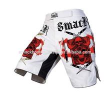 Mma Shorts branco m / o 100% poliéster totalmente sublimação Mma Shorts