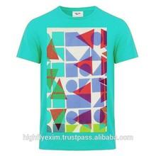 Summer dress custom logo printed o-neck mens T-shirts