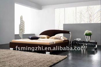 Modern brown fabric bed AY190