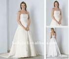 Unusual Sleeveless Tatted Lace Pure White Wedding Dress