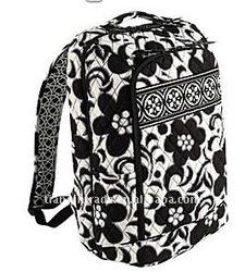 black and white fashion canvas backpack, teen school backpacks