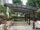 Popular DIY polycarbonate carport, 4mm aluminum alloy frame outdoor car shed