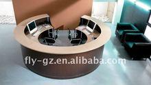 Circular front desk/Elegant receiption desk/Circular receiption table