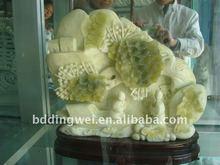 Jade sculptures de fleurs