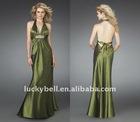 2014 Glamour Retailer Backless Plus Size Taffeta vestido de noche